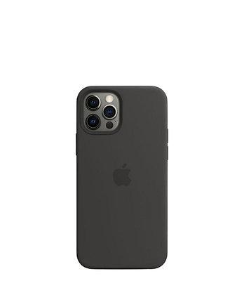 מגן כיסוי מקורי לאייפון 12 פרו שחור תומך MagSafe