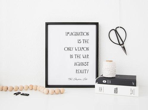 Imagination Quote Print