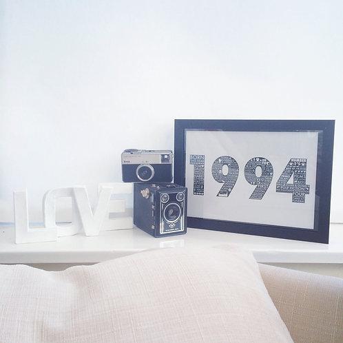 1994 21st Birthday Print
