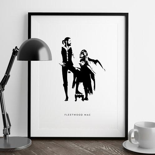 Fleetwood Mac | Monochrome Print