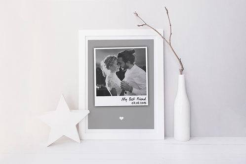B & W Polaroid Print