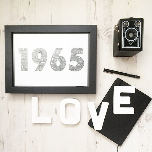 1965 50th Birthday Print