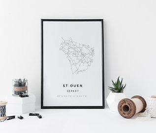 St Ouen Minimal Parish Map