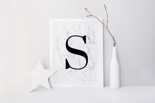 Marble Initial Print