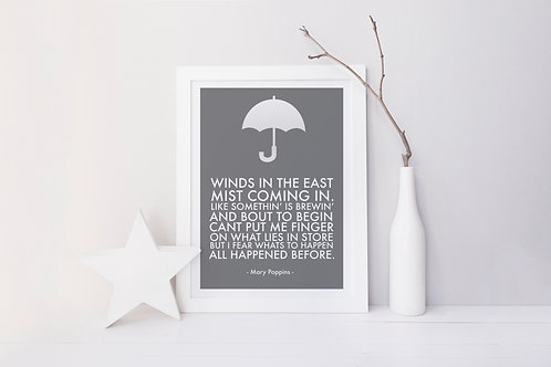 Winds in the East Print