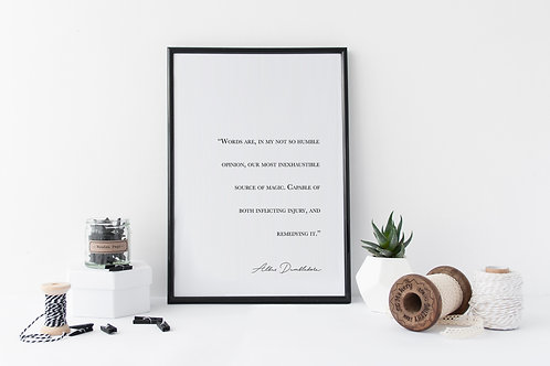 Dumbledore Quote Print