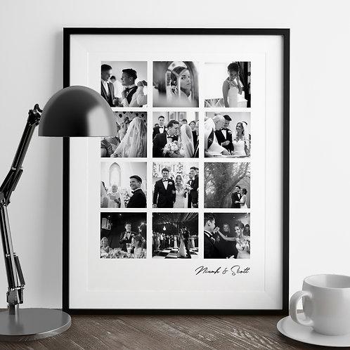 12 Photo Memory Print