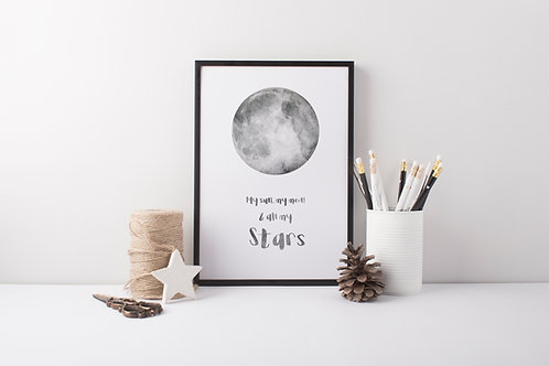 Sun & The Moon Print