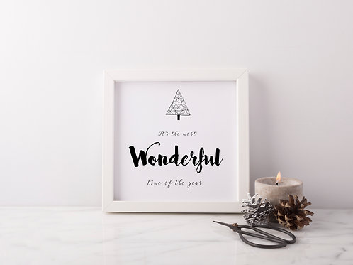 Most Wonderful Time Print