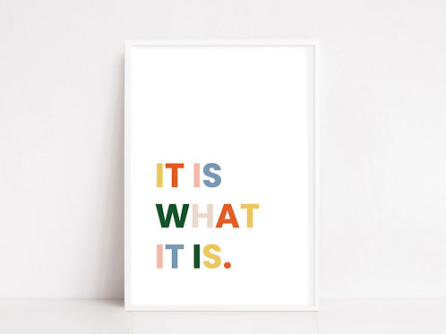 It Is What It Is Print | Digital Download