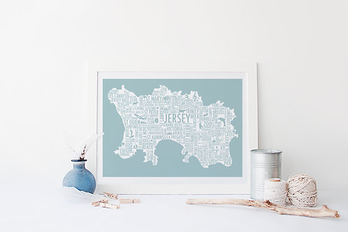 Jersey Typography Map