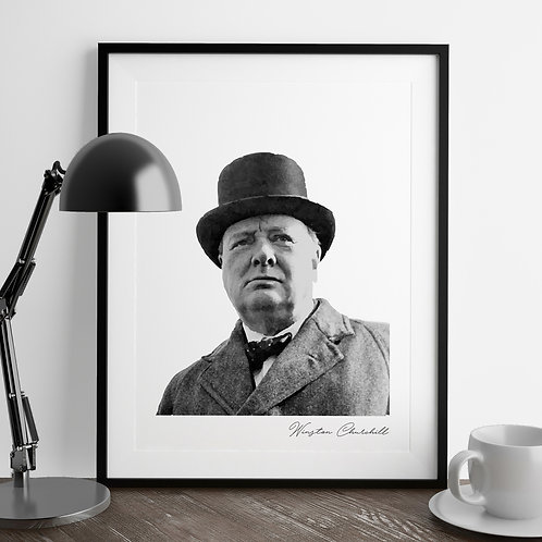 Winston Churchill | Iconic Hat | Art Print