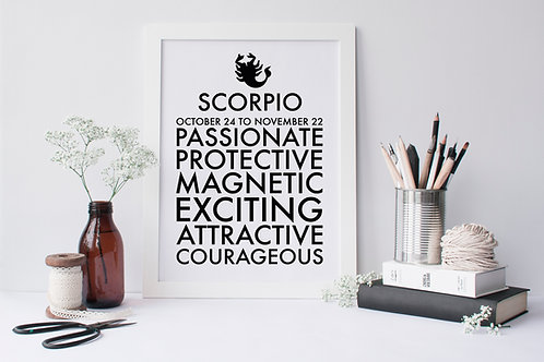 Scorpio Star Sign Print