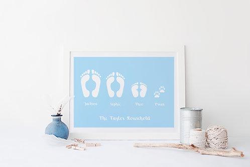 Personalised Footprint Print