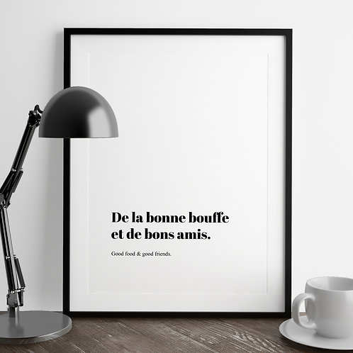 Good Friends French Quote Print