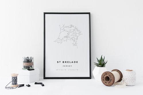 St Brelade Minimal Parish Map