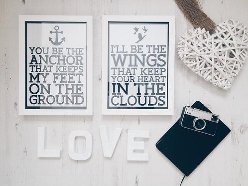 Anchor & Wings Print