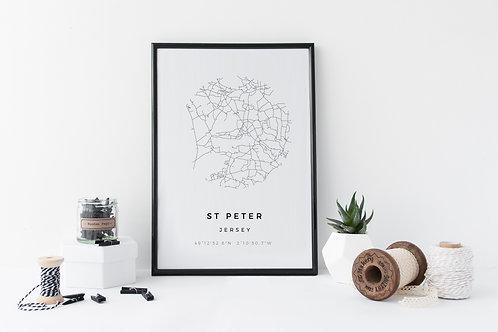 St Peter Minimal Parish Map