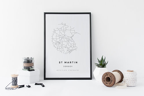St Martin Minimal Parish Map