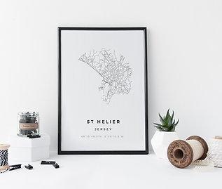 St Helier Minimal Parish Map