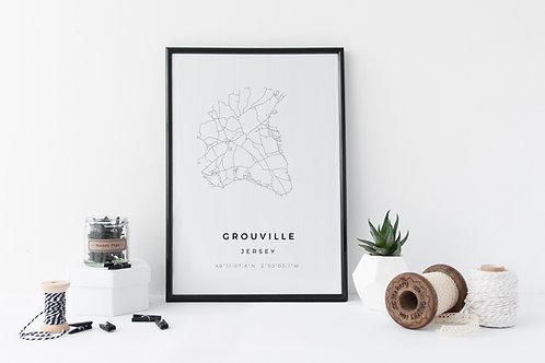 Grouville Minimal Parish Map