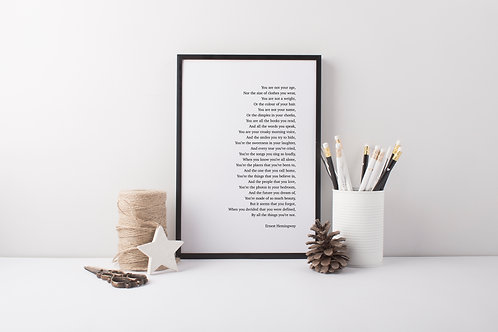 Beauty Poem Print