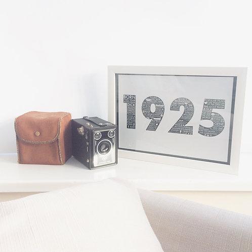 1925 90th Birthday Print