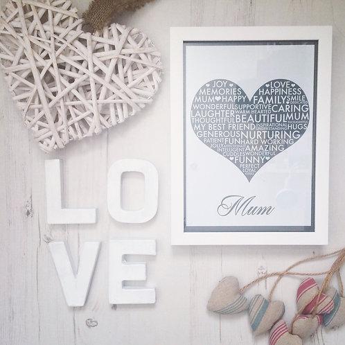 Mum Heart Print
