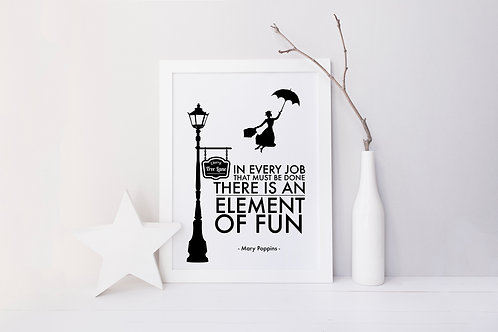 Mary Poppins Fun Print