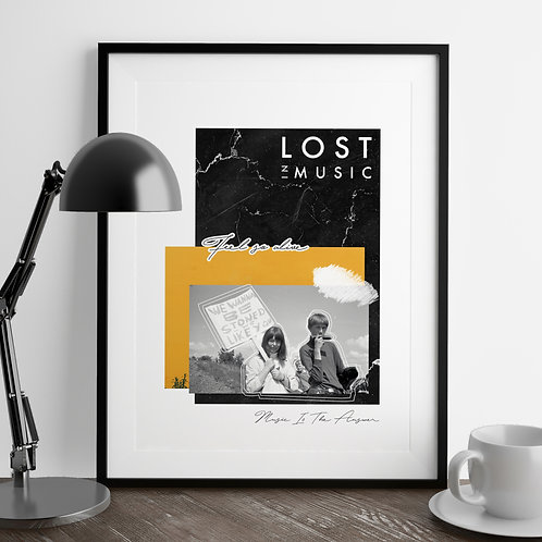 Lost in Music Collage