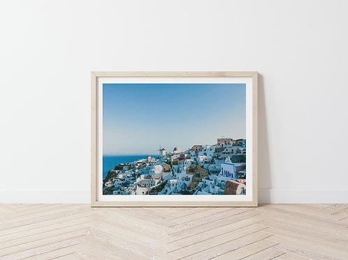 Buildings Of Santorini Photography Print