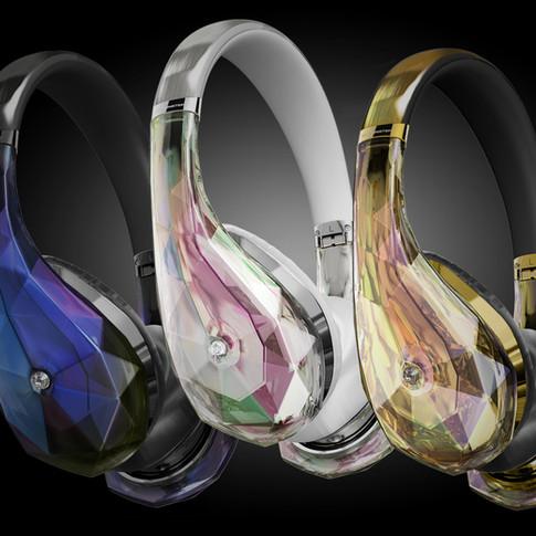 On Ear Diamond Tears Headphones