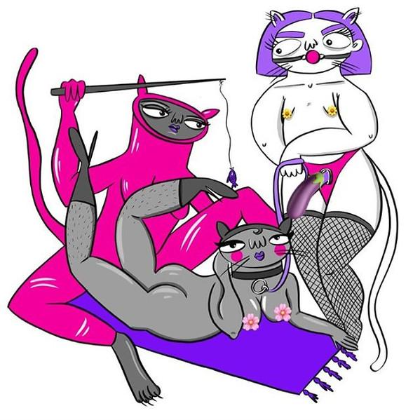 Lesbian kitty fetish dungeon