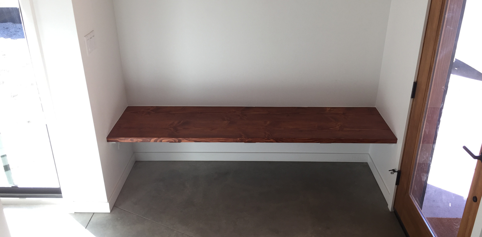 floating foyer bench