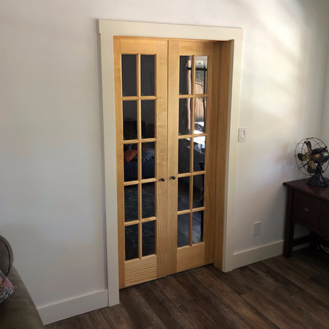 widening an openng and installing french doors