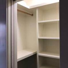 closet shelving & pocket door
