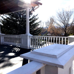 custom boxes and railing