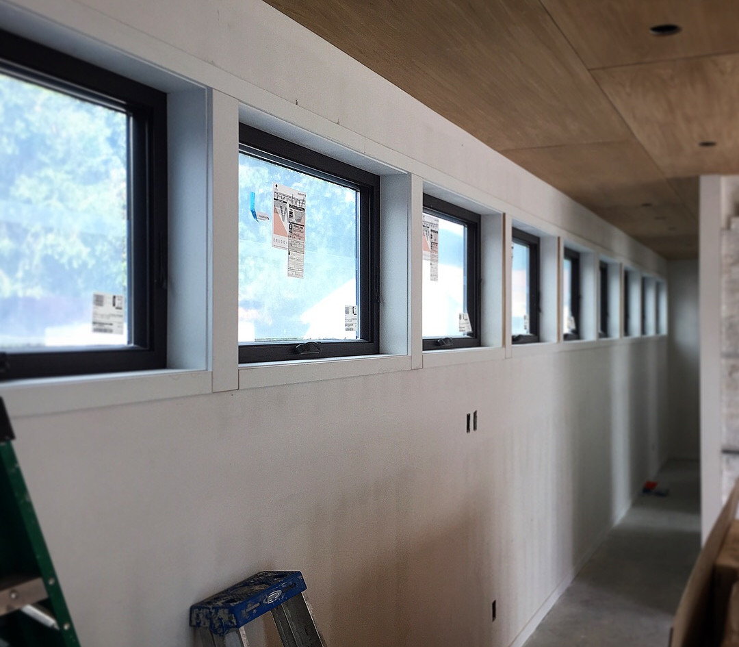 linear window trim after install