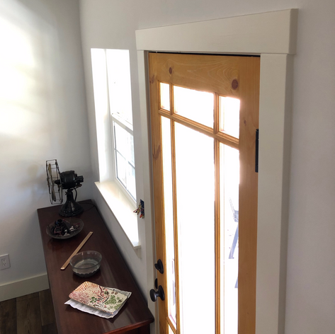 Window addition & door install