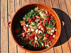 Salade de nouilles de riz aux légumes d