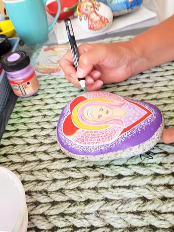 Workshop engelensteen schilderen