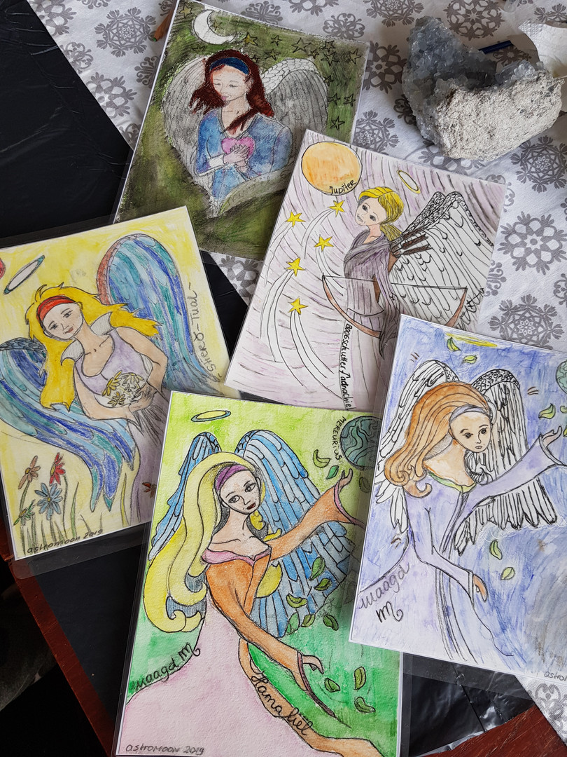 Workshop engelenkaart schilderen voor kinderen