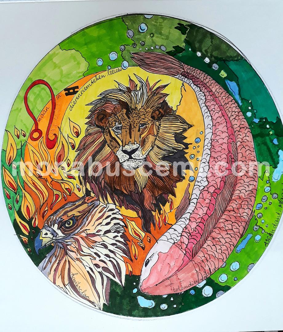Dierenriemteken Leeuw
