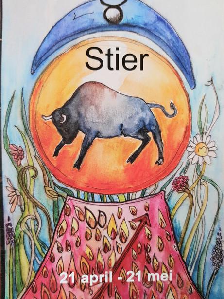 Dierenriemkaart van het teken stier