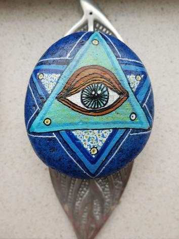 Het Alziend oog / Spirituele steen