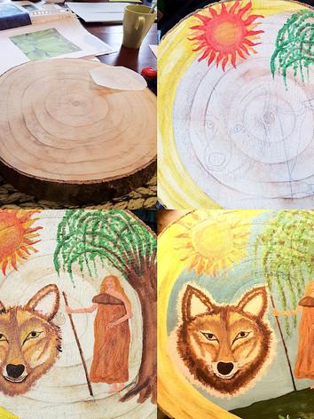 Cursus sterrenbeeld schilderen op hout