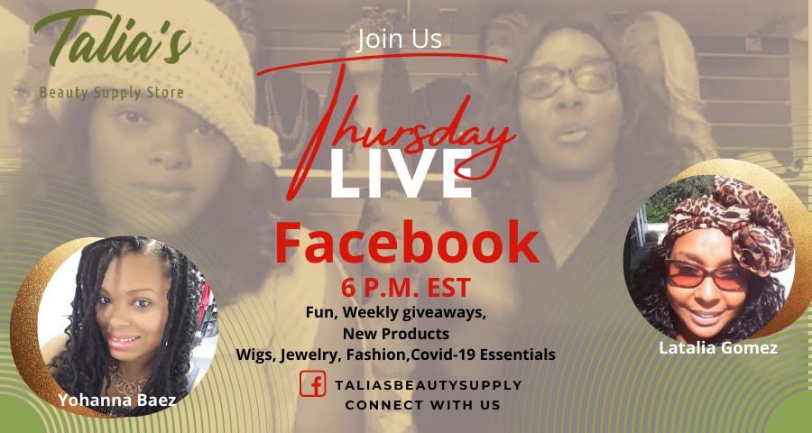 Talia's Facebook Live