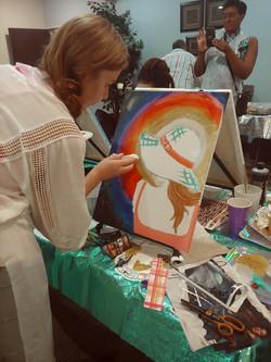 Rebekah painting WIP