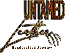 UNTAMED LEATHER Brown Gold StrokeLOGO