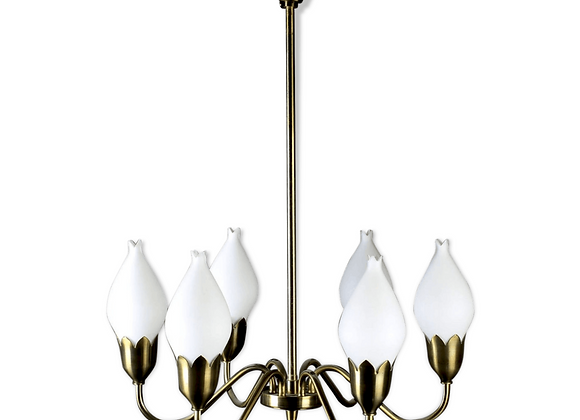 Brass Tulipan Chandelier from Fog & Mørup